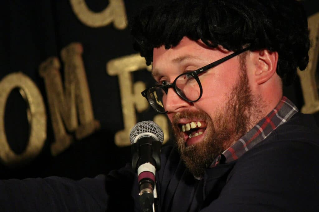 John Kearns performing at Chortle Award Winning GOAT Comedy in Brighton